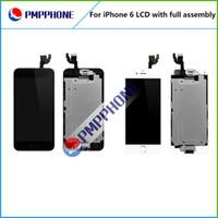 Affichage LCD de qualité AAA pour iphone 6 4.7 '' Écran tactile Digitizer + Home Button Caméra avant Full Assembly Livraison gratuite blanc noir couleur