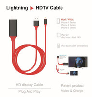 Wholesale HDMI to Lightning USB Port HDTV Cable HD Video and Charge Cord For iPhone iPAD Air