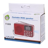 Wholesale Hot Sell T Mini FM Radio With Speaker Portable Rechargeable Digital LED Flashlight Micro USB TF SD Card MP3 Music Player