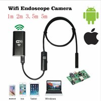Wholesale HD720P Wireless mm m m m Wifi IOS Endoscope Camera Borescope Waterproof Inspection FOR Iphone iPad Endoscopes Android Phone PC HD M