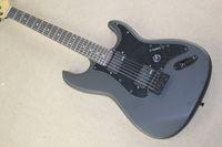 Wholesale Top quality New Arrival St Matte black Electric Guitar black color pickguard emg pickup electric guitar
