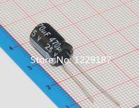 Wholesale uF V DIP aluminum Electrolytic capacitor