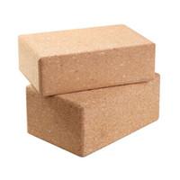 Wholesale Cork Wood Yoga Block Exercise Fitness High Density Practice Tool Natural Non Slip Brick Home Health Gym