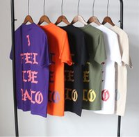 Wholesale Kanye West i feel like pablo Short Sleeve Tshirt Men Brand Summer Black Tee Shirt Men Cotton Casual High Quality Funny T shirt Men