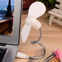 USB Fan No Stock Wholesale- Flexible Mini USB Cooling Fan Cooler For Laptop Desktop PC Computer Notebook Summer Portable Powered by USB Fan 6 Colors 1PC