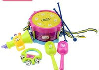 Wholesale Children s musical instrument sets of combination of educational toys baby double sided drum hot mixed batch