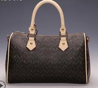 Wholesale women real leather shoulder bag oxidize real leather handbag speedy lady bag tote bag