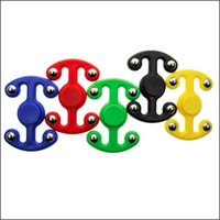 Wholesale 5 Colors Tri Spinner ABS Plastic EDC Hand Spinner For Autism and ADHD Ceramics Beads Fidget Spinner Long Time Anti Stress Toys