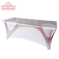 Wholesale 6ft metallic silver Swiss cheese hollow rectangular cover table cloth table cover