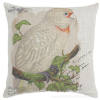 Wholesale 18 inch Parrot Throw Pillow Cover CM Sofa Cushion Home Car Party Hotel Decoration Pillow Case Linen