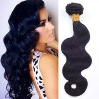 7A Peruvian Virgin Hair Weave Extensions de cheveux humains La meilleure qualité 3pcs / lot Brésilienne cheveux extensions Trame Remy naturelle bBack peut être teint