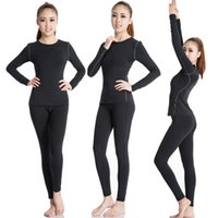 Wholesale PRO Female Yoga Set Gym Clothes Running Sport Yoga Long Sleeve with Long Pants Yoga set Polyester Compression Tights Underarmoiur