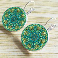 Wholesale DHL Freeship Fashion earrings Jewelry mm Time Gemstone Earrings women Bohemian style Bikini Beach Sunflower Earrings jewelry accessories