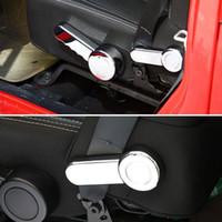 al por mayor saque los componentes internos-Nterior Accesorios Molduras interiores 2x cromo ABS Asiento interior de coche Eliminar Ajustar el botón Interruptor de control Trim Cover Styling Sticker FIT ...