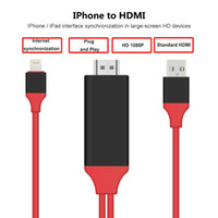 Wholesale 2016 NEW Dock to HDMI HDTV TV Adapter USB Cable P for iPhone S S PLUS S PLUS7 plus HDMI Cable