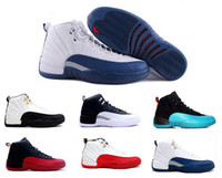 Basketball Shoes big red mens - New big Children White OVO Shoes French Gamma Blue Gym Basketball Air Retro Basket mens Retro12 Shoe Sneakers Red Black On Line