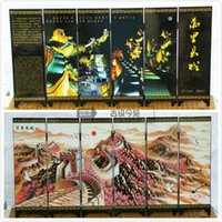 Wholesale Chinese Great Wall lacquer process small screen with characteristics
