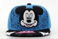 Los niños del sombrero del Snapback de Mickey Mouse de los niños se dirigen los casquillos lindos de la historieta