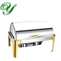 banquet cooking - Stainless steel Buffet heater Chafing Dish hotpot holder L Bain Marie wedding winter Catering Banquet cooking pan server Food Tray Warmer