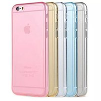 Wholesale new arrival mm Crystal Clear Soft Silicone Transparent TPU Case cover for iphone S s S Plus For iphone case