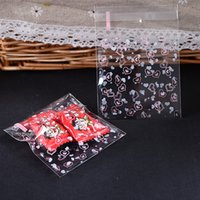 Wholesale cheapest pc Cute Cookie Packaging Self adhesive Gift snow flower Plastic Bags For Biscuits Snack Baking Package x100mm
