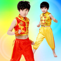 art shops - 2016 New Products Hot Products Traditional Ethnic Children Martial Arts Costumes Long Kung Fu Performance Costumes free shopping