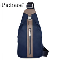 Wholesale Padieoe Fashion Men canvas bags high quality men s one shoulder bags Casual mens messenger bags Leisure waist pack bag for male