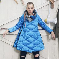 Wholesale 2016 woman parka mujer coat brand new fashion Cape type Skirt in Europe and America ultra light duck down long jacket women s winterjas coat