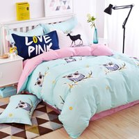 100% Cotton bedding set cars - Blue owl girls boys bedding set bright color fish horse music car bed linen kids duvet cover sets twin full queen king size