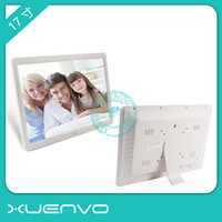 album display - 17 inch digital photo frame electronic album widescreen support p video advertising machine ultra thin wall1 inch LCD display with k
