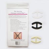 Wholesale Cleavage Control Clip Women Bra Clips Black Beige Clear Color packs A Pack