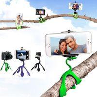 Wholesale Gekkopod Mini Tripod Mount Portable Flexible Stand Holder for iPhone Gopro xiaomi yi Sj4000 SJCAM c30 Sports Camera Accessories