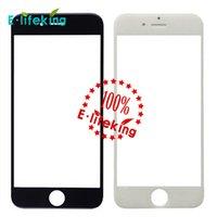 Black White écran de verre avant avec OCA adhensive + Digitizer écran tactile pour iPhone 6 pour iPhone 6 plus pièce de réparation
