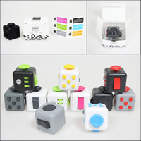 Wholesale In Stock Colors Anti anxiety Fidget Cube Magic Decompression Toy Adults Stress Relief Kids Toy Gift Fast DHL Shipping