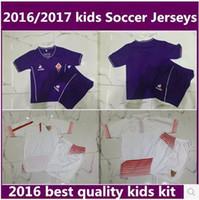 Wholesale kids Florence Home Purple Jersey ACF Fiorentina M gomez Bernardeschi Blaszczykowski Kalinic shirts thai quality