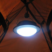 Wholesale New Arrival LED Outdoor Camping Lamp with Lampshade Circle Tent Light Campsite Hanging Lamp Drop Shipping