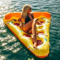 Wholesale cm Inflatable Pizza Water Floats Swimming Pool Air Raft Floats For Summer Inflatable Swimming Rings