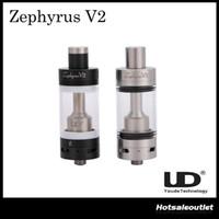 Acheter Zephyrus sous réservoir ohm-Authentique Youde Zephyrus V2 RTA Sub ohm Citerne 6ml Atomiseur 0.2ohm 0.3ohm 0.5ohm 0.6ohm 1.8ohm OCC Double Plein SS Céramique Coil Base