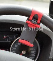 automobile rubber - Steering Wheel Car Phone Holder Automobile Cellular Bracket Auto Mount Rubber Band For iPhone iPod MP4 GPS PDA Mp4 Mp5 Tablet PC