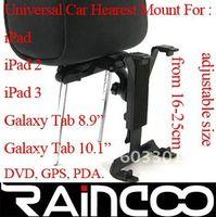 Montaje al por mayor del apoyo para la cabeza del coche 10pcs / lot para el ipad, para la tabulación de la galaxia y la PC de la tableta, fromm ajustable 16-25cm, embalaje del bolso de OPP