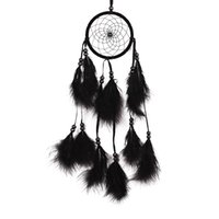 bead wall hanging - ASLT Flower Pattern Dream Catcher With Beads Black Feather Car Wall Hanging Decoration Accessories Handmade Gifts