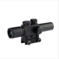 Wholesale 4X25 Tactical M6 Red Green Mil Dot Sight Scope with Red Laser mm Rail Mount Aim Airsoft Scope For plastic gun War game