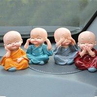 Wholesale Four Kung Fu small monk ornaments Buddha cute car interior cloth car car supplies limit buy