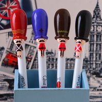 Wholesale Cute Cartoon Kawaii Gel Pen London UK British Soldiers Style Pens Korean Stationery Creative Gift