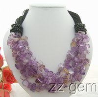 Asian & East Indian ametrine necklace - N1012207 Natural Ametrine Onyx Necklace