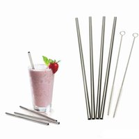Wholesale 304 Stainless Steel Straw Metal Drinking Straw Beer Juice Straws Kit Fits oz to oz Yeti Tumbler Rambler Cups