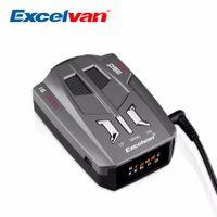 Wholesale Excelvan V9 Vehicle Car Radar Detector Degree Band LED Display Detection Russia English Voice Alert Warning