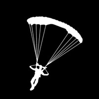 aircraft door - 2017 Hot Sale Personality Skydiving Parachute Sticker Decal Art Car Aircraft Car Stying Car Accessories Creative Jdm