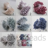 Wholesale 2 mm Matt Flat Double End Artificial Flower Stamen Wedding Floral Bouquet for Cake Decoration