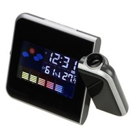 alarm clock project - 180 Degree Projecting Electronic Digital Projection Desk Alarm Clock w LCD Display Thermometer Moisture Meter Weather Station